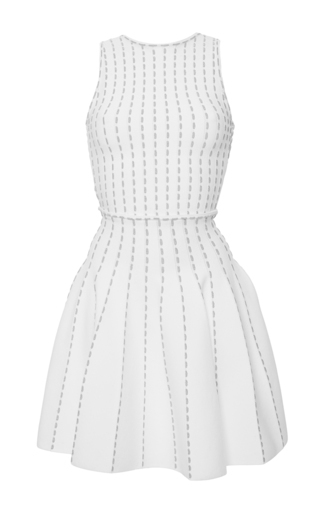Medium blugirl white sleeveless knit dress