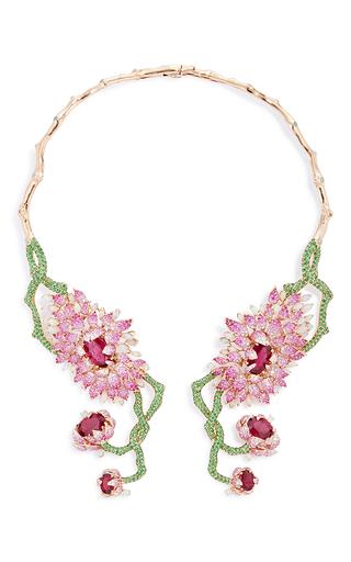 Medium wendy yue multi symmetrical floral collar necklace