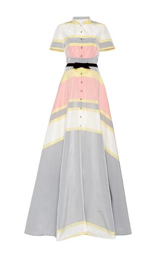 Medium carolina herrera light blue stripe gown