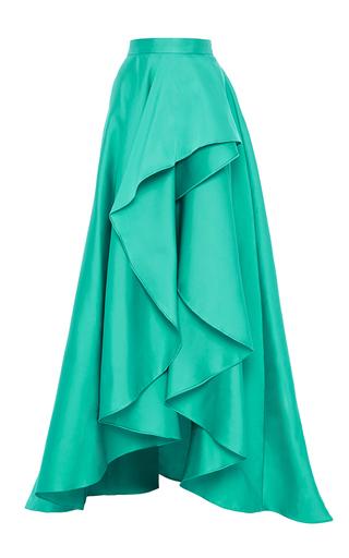 Medium monique lhuillier turquoise cascade front evening skirt