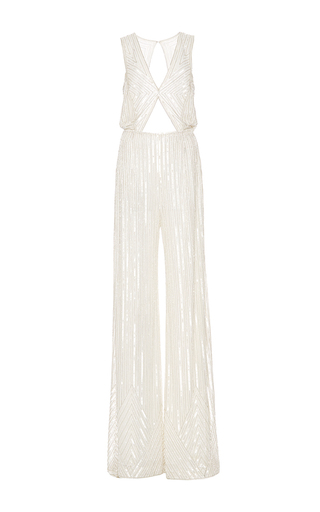 Medium naeem khan white cutwork jumpsuit