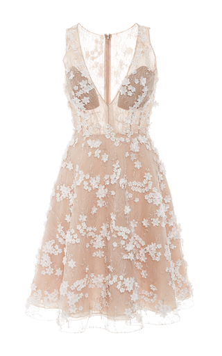 Medium patricia bonaldi white beaded tulle cocktail dress