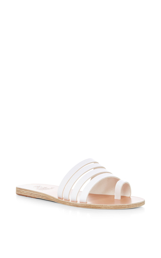 Medium ancient greek sandals white agora quadruple strapped sandals