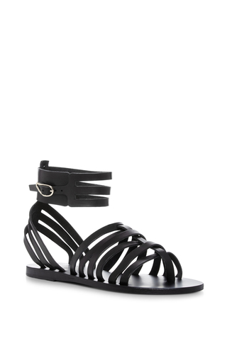 Medium ancient greek sandals black zaira multi strap sandals