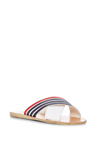 Medium ancient greek sandals stripe thais striped sandals