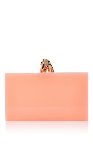 Medium charlotte olympia light pink pink pandora never forgets clutch with elephant charm