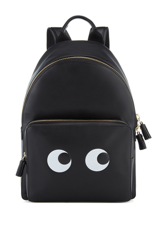 Medium anya hindmarch black eyes right mini black back pack