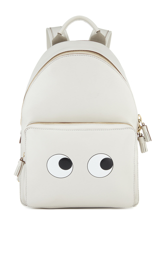Medium anya hindmarch off white eyes right mini chalk back pack