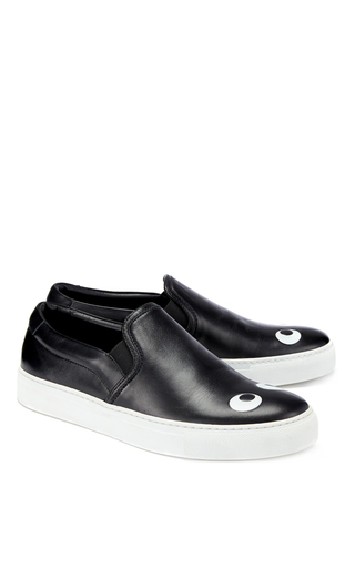 Skater Eyes Right Sneaker In Black Nappa by ANYA HINDMARCH Now Available on Moda Operandi