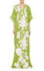 Floral Embroidered Caftan by NAEEM KHAN Now Available on Moda Operandi
