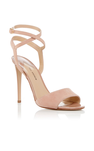 Medium paul andrew nude laura ankle wrap heels