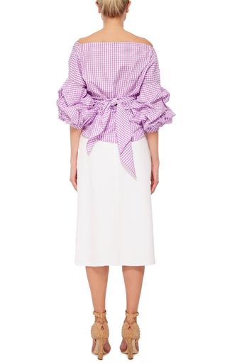 Rosemary Cotton Gingham Top by JOHANNA ORTIZ Now Available on Moda Operandi