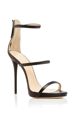 Medium giuseppe zanotti black black leather triple strapped coline sandals