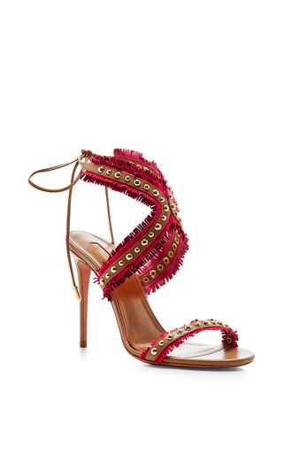 Latin Lover Leather Sandals by AQUAZZURA Now Available on Moda Operandi