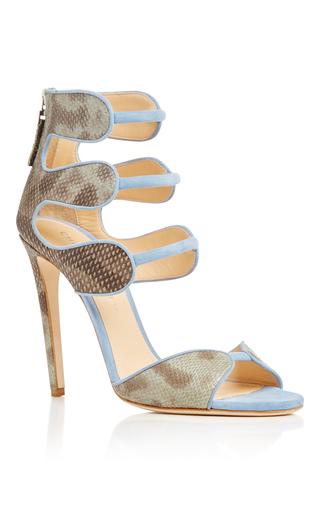 Medium chloe gosselin blue larkspur water snake sandals