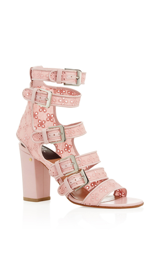 Medium laurence dacade pink dana cotton eyelet embroidered sandals