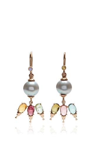 Medium daniela villegas multi 18k gold and south sea pearl khepri fairy earrings