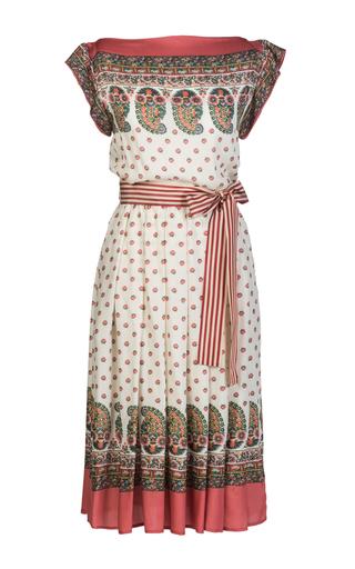 Medium lena hoschek coral souvenir belted dress