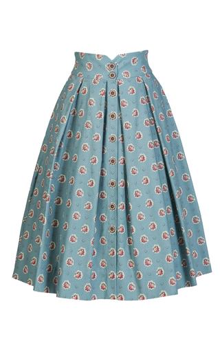 Medium lena hoschek light blue marseille bouquet sky skirt