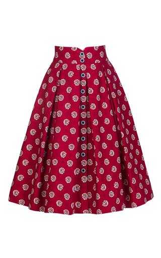 Medium lena hoschek red marseille bouquet cherry skirt