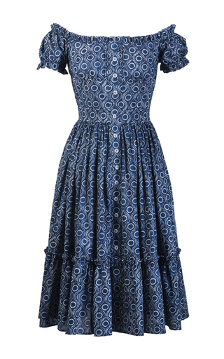 Medium lena hoschek blue paysanne dress
