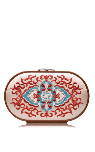 Medium katrin langer off white russian church paining embroidered oval bag