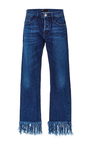 Denim Cropped Jeans With Frayed Fringed Hems  by 3X1 Now Available on Moda Operandi