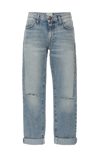 Medium current elliott light wash the fling rolled cropped jeans