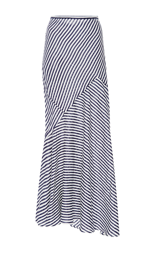 Medium perret schaad blue bold stripe juss skirt