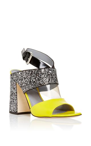 Medium pollini silver yellow and silver glitter heel