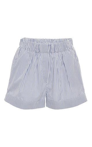 Medium anna sammarone light blue striped poplin pajama short