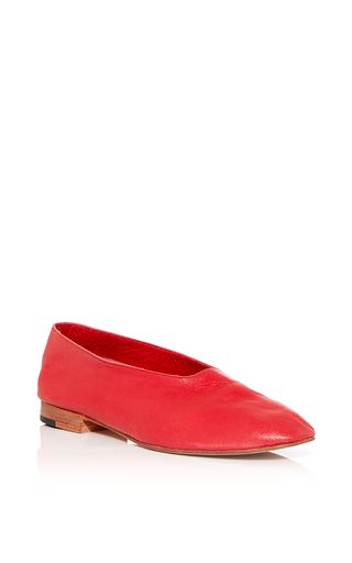 Medium martiniano red glove flat in red