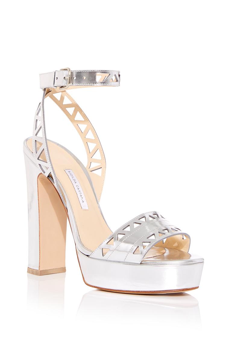 Silver Leather Calf Calf Leather Sandal Silver Zoe Silver Sandal Zoe lcJ1TFK