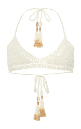 Medium she made me off white 70s essential crochet bikini top