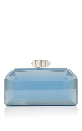 Medium judith leiber blue air blue faceted clutch