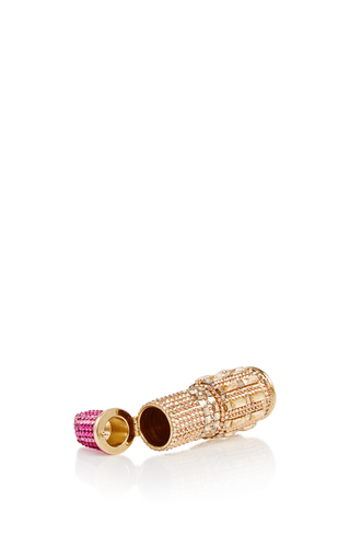 Smooch Lipstick Pillbox by JUDITH LEIBER COUTURE Now Available on Moda Operandi