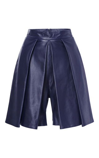 Medium yde navy jessa leather culottes