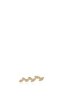 14k Gold And Diamond Floating Leaves Single Earring by EF COLLECTION Now Available on Moda Operandi