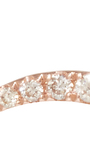 14k Rose Gold And Diamond Floating Wave Single Earring by EF COLLECTION Now Available on Moda Operandi