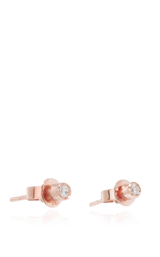 14k Rose Gold And Multi Bezel Diamond Ear Jackets by EF COLLECTION Now Available on Moda Operandi