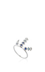 18k White Gold And Sapphire Triple Burst Ring by AZLEE Now Available on Moda Operandi