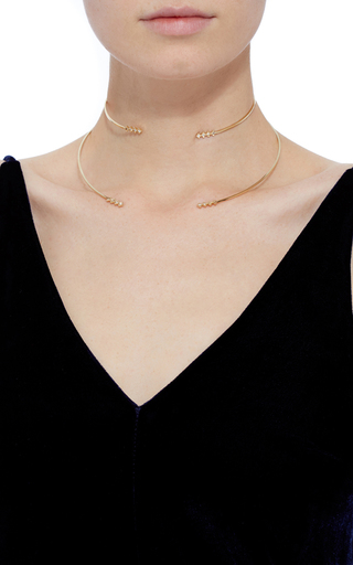 18 K Gold And Diamonds Collar And Choker Set by AZLEE Now Available on Moda Operandi