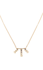 18k Gold And Sapphires Triple Burst Necklace by AZLEE Now Available on Moda Operandi