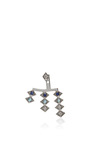 18k White Gold And Sapphire Triple Burst Single Ear Jacket by AZLEE Now Available on Moda Operandi