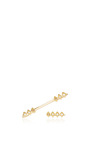 18k Gold And Diamond Single Burst Ear Wire And Rod Set  by AZLEE Now Available on Moda Operandi