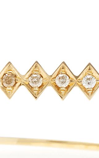 18k Gold And Diamond Single Burst Bracelet  by AZLEE Now Available on Moda Operandi