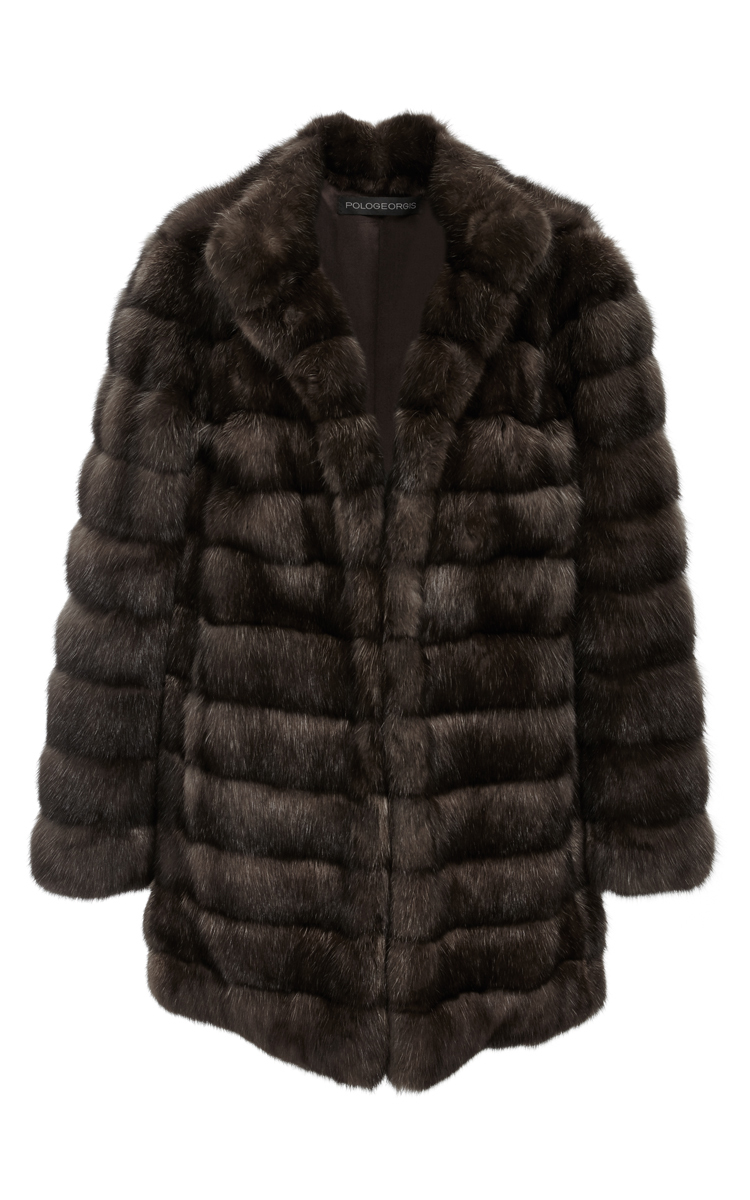 Russian Barguzin Sable Coat by Pologeorgis | Moda Operandi for Sable Fur Cape  181plt
