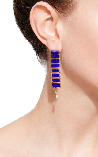 Gold Ladder Earrings by KARMA EL KHALIL Now Available on Moda Operandi