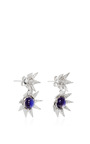 One Of A Kind White Gold And Iolite Starburst Earrings by KARMA EL KHALIL Now Available on Moda Operandi