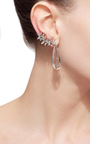 White Gold And Topaz Drop And Cuff Earrings by KARMA EL KHALIL Now Available on Moda Operandi